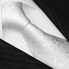 25007 Lorenzo Cana - Marken Krawatte aus 100% Seide Hochzeitskrawatte weiss