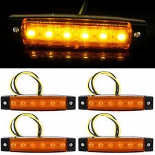 4x Amber 6LED Side Marker Indicators Lights Lamp For Truck Trailer Lorry RV 12V