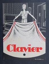 Dépliant publicité Linge de maison hôtel CLAVIER Grenoble années 1930