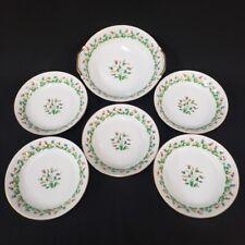 Dish set 5 soup bowls 1 serving bowl Aladdin Fine China Hollandia Flowers Japan