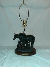 Western Moments Horse Lamp
