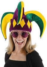 Court Jester Hat Mardi Gras by Elope Hats Velvet Green Purple Yellow Gold