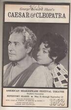 "American Shakespeare Festival  Playbill  1963   ""Caesar & Cleopatra"""