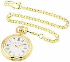 Bulova Polished Brass Pocket Watch With Second Hand - Fully Working