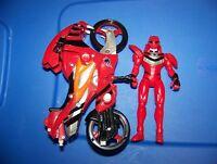 Power Rangers Jungle Fury : 2007 Bandai : Strike Rider Bike Red Ranger