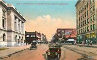 1911 Spokane Washington East Riverside Avenue Mitchell postcard 2294 autos
