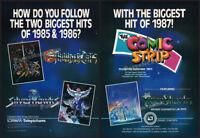 The COMIC STRIP_/_TIGERSHARKS__Orig. 1987 Trade AD / TV promo_poster_THUNDERCATS
