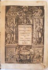 MEDIO ORIENTE ISRAELE MESSINA SICILIA GIANGOLINO DA FANO HEDENGRAFIA 1649 ILLS