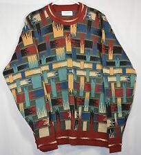 TRICOT ST. RAPHAEL Ugly Hipster Sweater Mens Sz L 100% Cotton EUC Made in USA