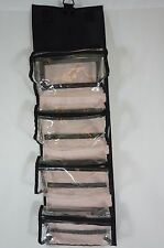 Mary Kay Travel Roll-up Bag Cosmetic Organizer Black Hanging w/Removable Pouches