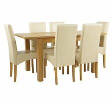 Swanbourne Ext Oak Veneer Table & 6 Chairs - Choice of Colour