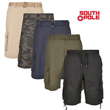 Southpole Men's Cargo Shorts Cargo Shorts Bermuda with Belt Summer