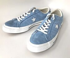 Converse One Star Ox Light Blue Leather Shoes Sneaker M Size 8 W Size 10 161585C