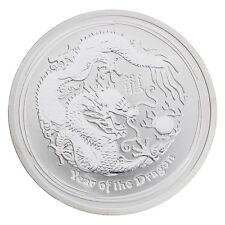 2012 Australia 2 oz Silver Year of the Dragon BU (Lunar Series II)