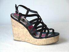 Madden Girl Elmaa Open-toe Wedge Sandal   Color: Black Size: 9.5