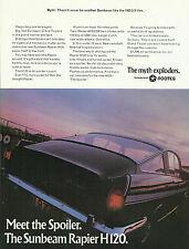SUNBEAM RAPIER H120 original 1968 UK 1-sided advert cutting 'never be another'