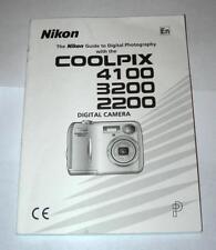 """Nikon Coolpix 4100-3200-2200 Instruction Manual """"Original Not Reprint"""""""