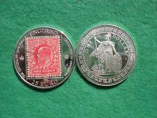 More details for 2002 silver british trade dollar type coin 25 euros edward vii centenary