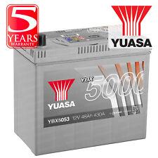 Yuasa YBX5053 Car Battery Calcium Silver Case SMF SOCI 12V 430CCA 48Ah T1/T3