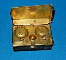 Antique German Military Portable Double Inkwell with Eagle & K.K. PR - 1890's