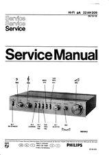 Service Manual-Anleitung für Philips 22 AH 209