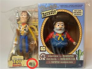 NEW!!! Toy Story Woody's Roundup 2 Packs Woody & Stinky Pete (MINOR DEFECT)