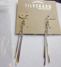 AUTHENTIC SILVERADO STICK LONG 925 Sterling silver dangle drop earrings NWT