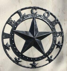"18"" Antiqued Silver Welcome Metal Star ~~~western door, rustic, cabin, cowboy"