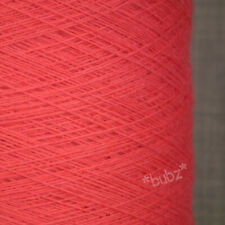 GORGEOUS SOFT ANGORA MERINO WOOL YARN 250g CONE 5 BALL CORAL PINK 2 PLY KNITTING