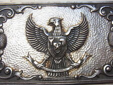 Schweres 135 Gramm Adler Wappen Silberetui Zigarettenetui Silber Silver