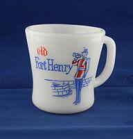 Old Fort Henry Vintage Federal Milk Glass Coffee Mug