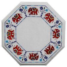 "15"" Marble Center Table Top Pietra  Dura Inlay Handmade Work Home Decor"