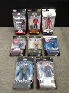 Hasbro Marvel Legends Venom, Carnage, Baron Zemo, Loki, Shang-Chi 8 Figure Lot