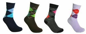 Socks Casual Cotton Argyle Diamond Size 4-6 UK For Women Lot