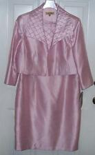 Kasper Womens Pink Jacket Dress Size 12 Special Occasion Wedding Party NEW $200
