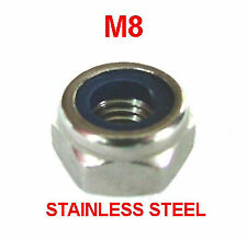 M8 Stainless Nyloc Nuts, 8mm Nylocs, Nylock, M8 Nylon Insert Stainless Steel x25