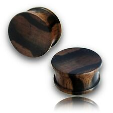 PAIR 00g 10MM CONCAVE RARE IRON WOOD PLUGS