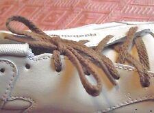LACETS plats Chaussures 4 oeillets 58 cm Paire shoelace marron ado enfant homme