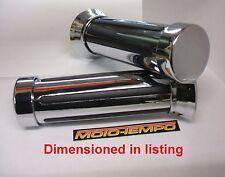 "Universal Motorcycle 22mm 7/8"" Custom Grips Chromed Plastic (will never rust)"
