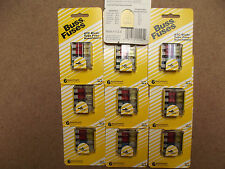 5 SETS OF 6 ( MADE IN USA) ATC BUSS FUSES ,5,10,15,20,25 AND 30AMP.3.1.***