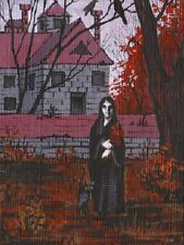 1.5x2 DOLLHOUSE MINIATURE PRINT OF PAINTING RYTA 1:12 SCALE BLACK SABBATH WITCH