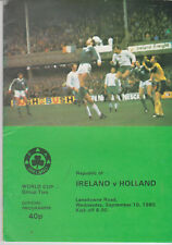 Programme / Programma Ireland v Holland 10-09-1980 World Cup 1982 Qualifier
