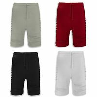 NEW Men Ripped French Terry Shorts ALL SIZES Distressed Regular Fit 4 Colors