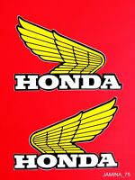 Honda Wing XR75 XR80 XR100 XR250 XR350 XR500 XR Fuel Gas Tank Decal Sticker