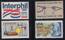 USA (206) 4 Pwz Interphil, A. G. Bell, Chemie, B. Franklin aus Jg 1976 **