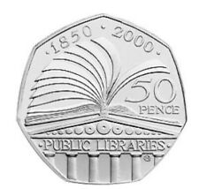 2000 50p Coin LIBRARIES 150th ANNIVERSARY RARE Fifty Pence