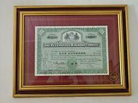 Gerahmte Aktie Pensilvania Railroad Company1950 Carolus Magnus Framed Shares