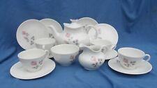 Royal Doulton Pillar rose 15pcs. Tea Set including a Teapot