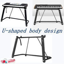 More details for piano keyboard stand electric organ rack u shape musical instruments holder