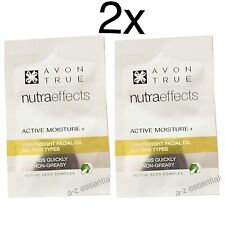2x Avon Nutraeffects Active Moisture Light Weight Facial Oil Samples